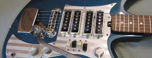Sometimes you just want rocker switches, square pickup posts, and a two-tone steel pickguard.