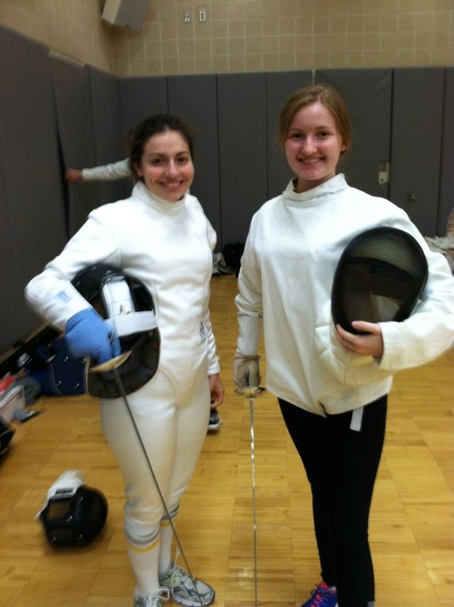 Em with fencing friend