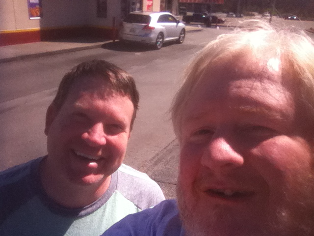 Todd and me at Krystal