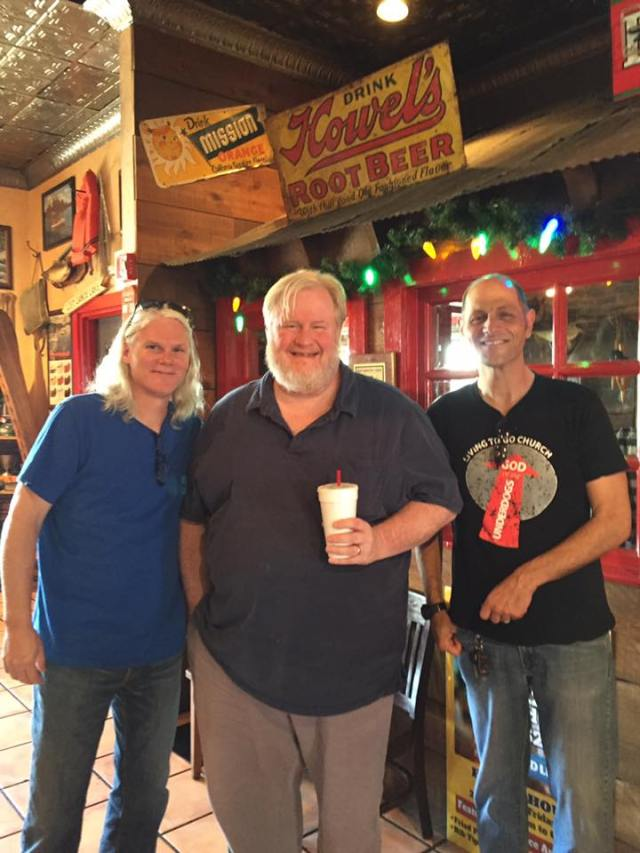 With Carl and Dearing at Famous Daves
