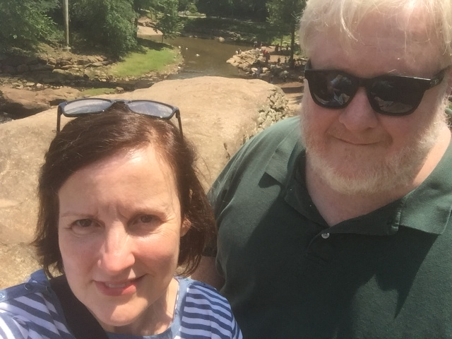 Deb and Me at Greenville Falls